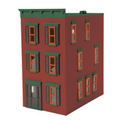 MTH MTH-30-90374 - MTH : O 3-Story Miner red Stone