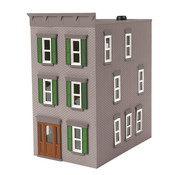 MTH MTH-30-90507 - MTH : O 3 story town house gray