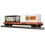 MTH MTH-20-95294 - MTH : O BNSF Flat Car w/ Tank Container