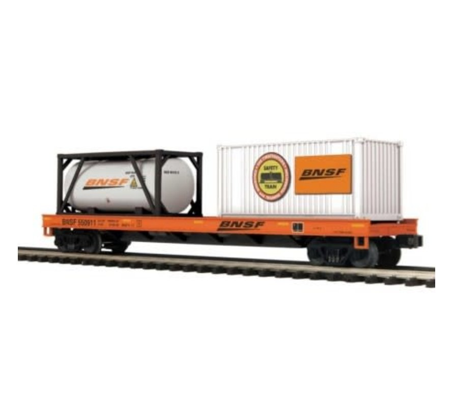 MTH : O BNSF Flat Car w/ Tank Container