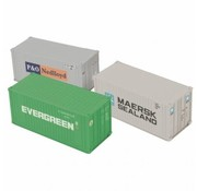MTH MTH-20-95377 - MTH : O 20' Container set (x3)