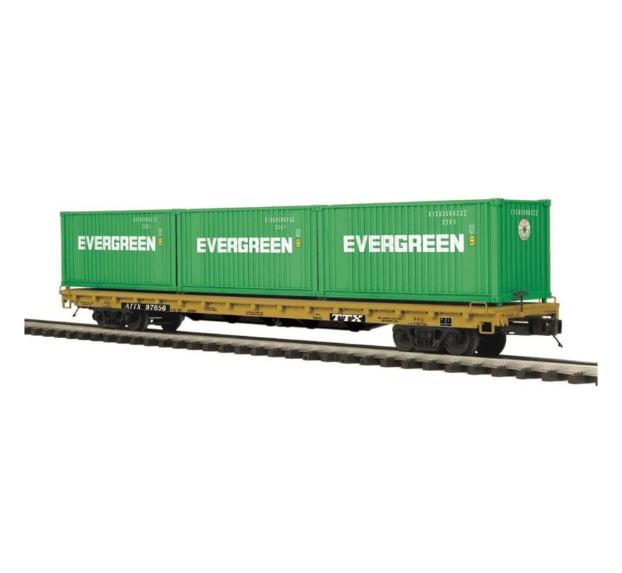 MTH : O TTX 60' Flat w/container