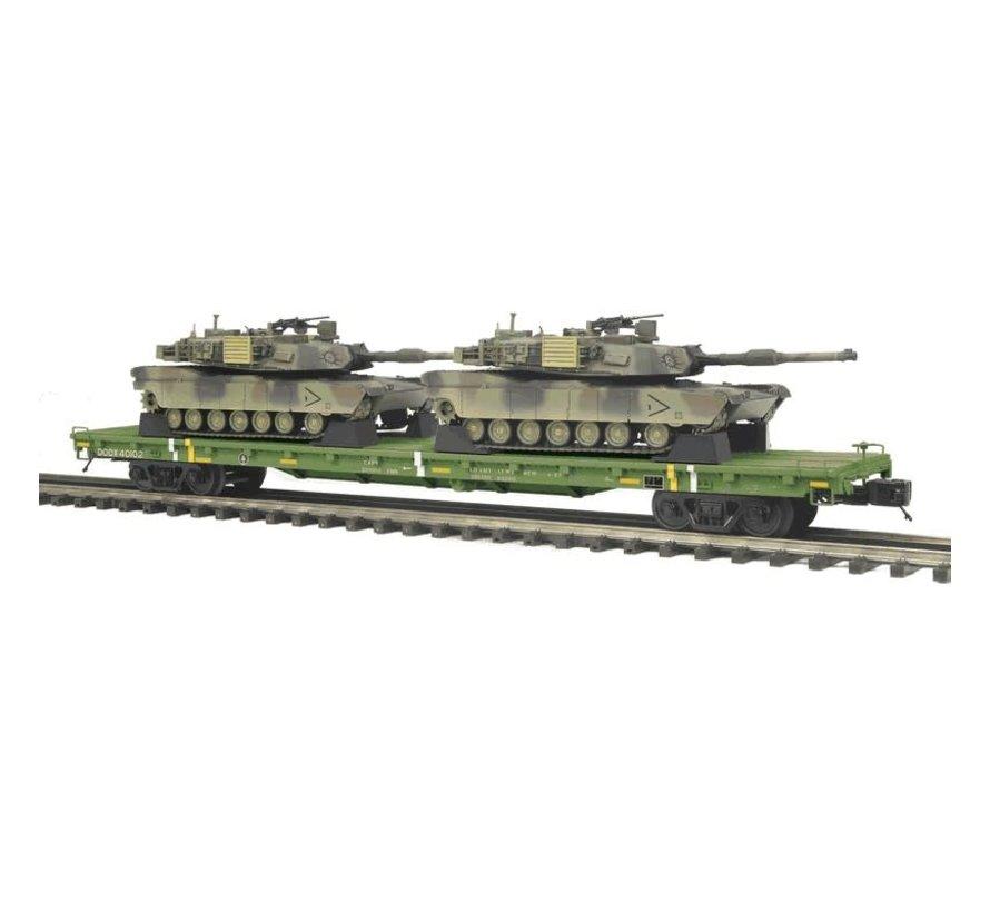MTH : O Flat Car w/(2) M1a Abrams Tanks