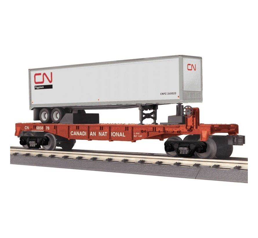 MTH : O CN Flat-trailer