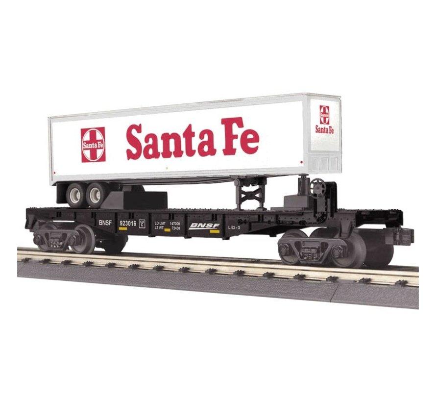 MTH : O BNSF Flat car w/ 40'trailer