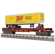 MTH MTH-30-76661 - MTH : O UP Flat car w/ 40'trailer