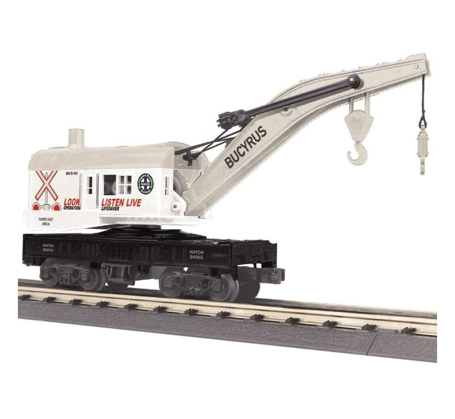 MTH : O BNSF Crane (sold with tender only)