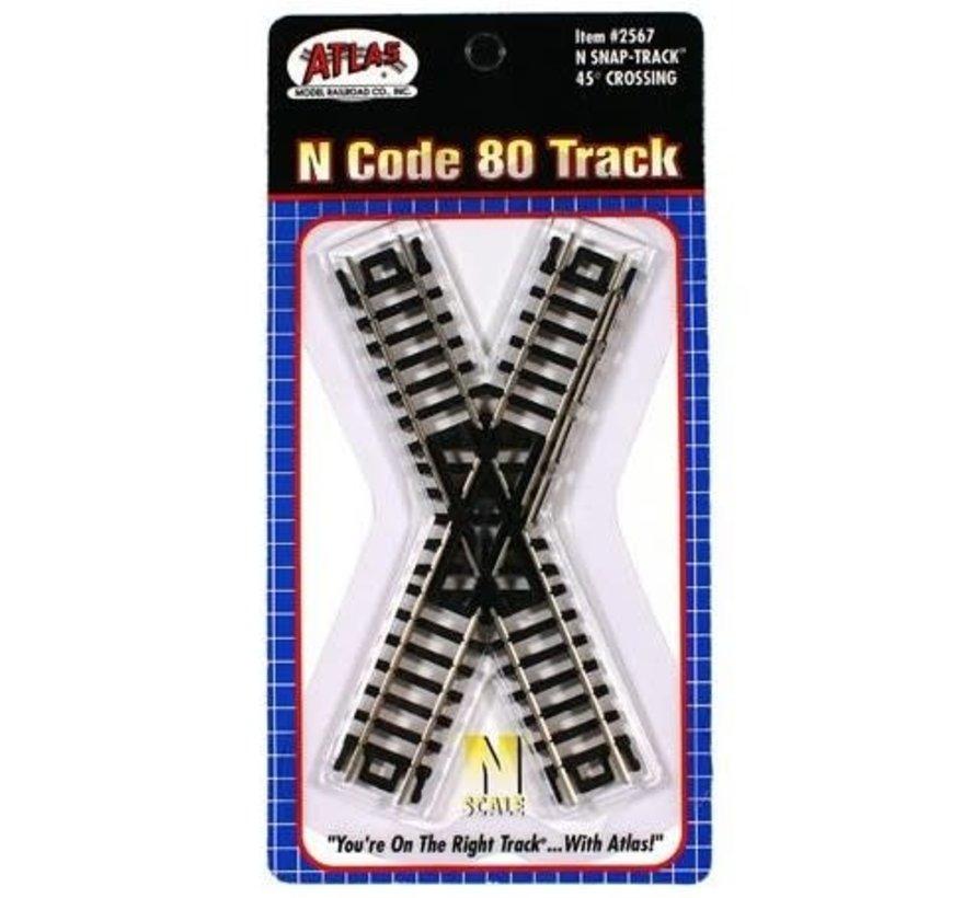 Atlas : N Code 80 45* Crossing