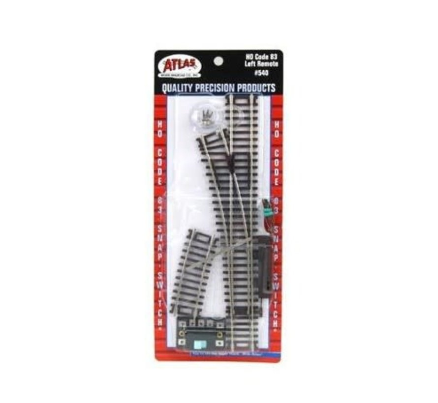 Atlas : HO Track (code 83) LH Remote Switch