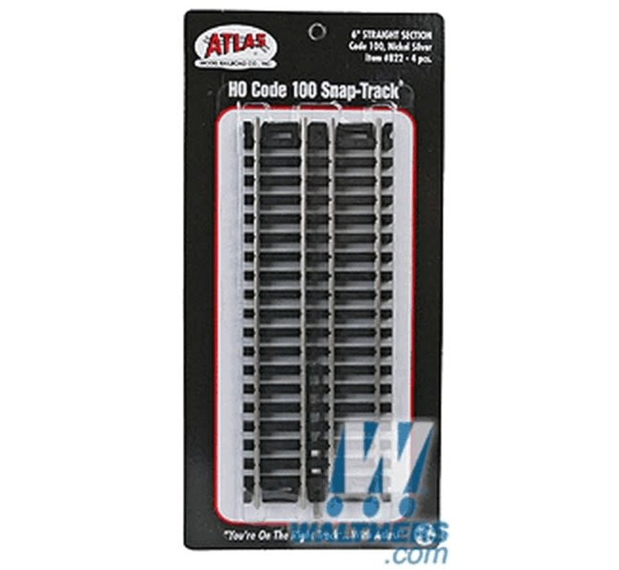 "Atlas : HO 6""Straight (4 pcs)"