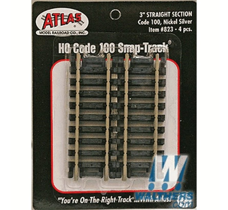 "Atlas : HO 3""Straight (4 pcs)"