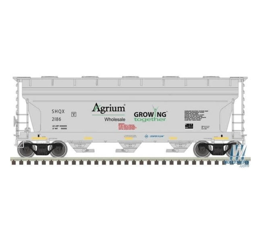 Atlas : N Trainman 3560 Covered Hopper, Agrium #2166
