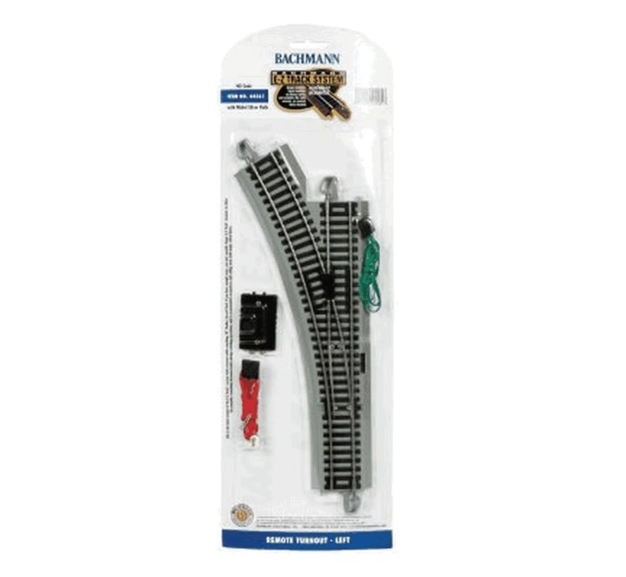 Bachmann : HO EZ Track NS LH Switch (gris)
