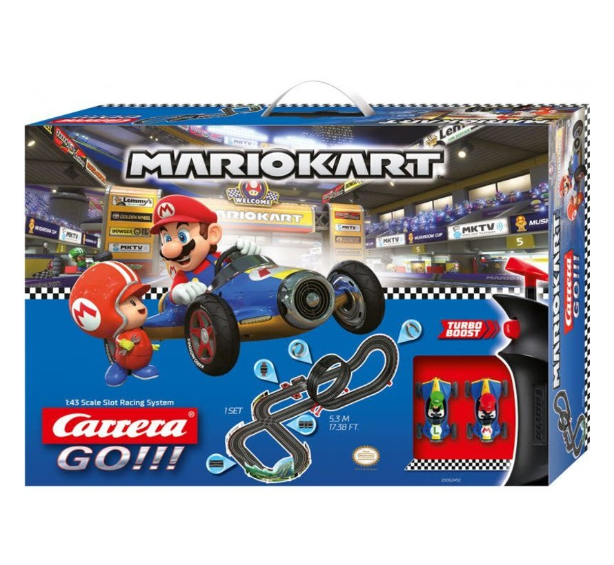Carrera : GO Mario Kart 8, Mach 8 Mario & Luigi Set, 1/43