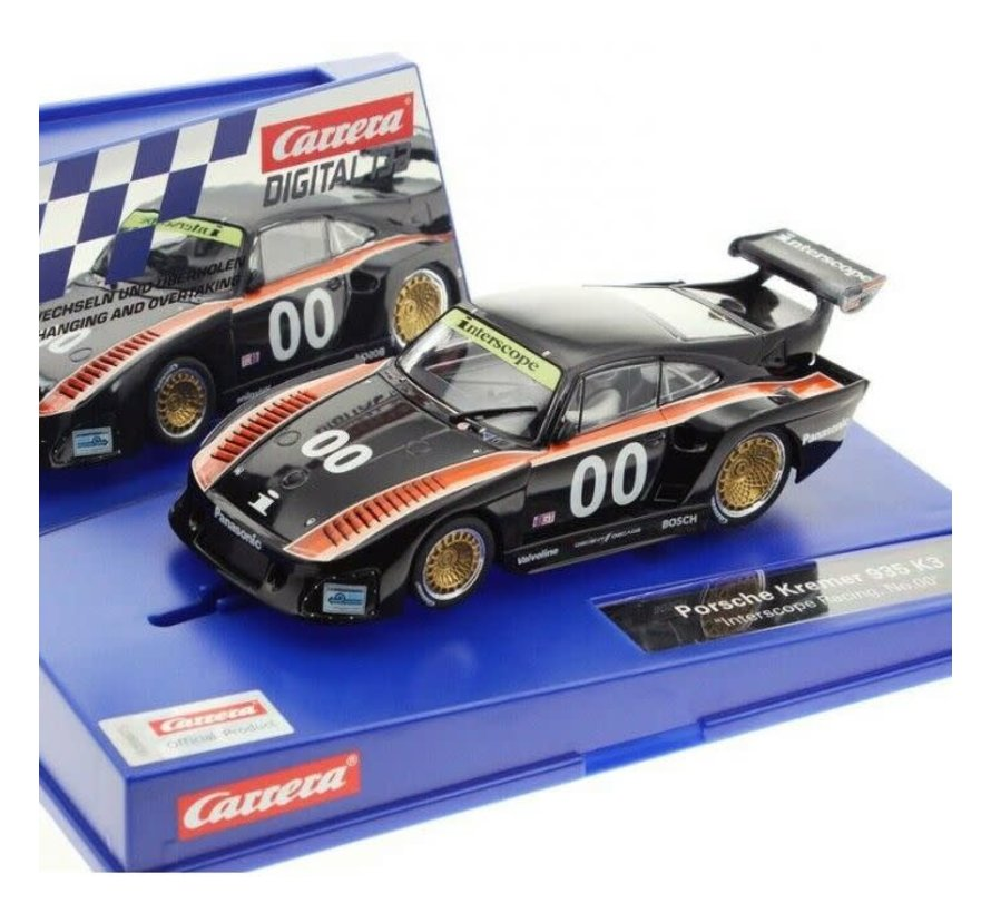 "Carrera : DIG132 Porsche Kremer 935 K3 ""Interscope Racing, No.00"""