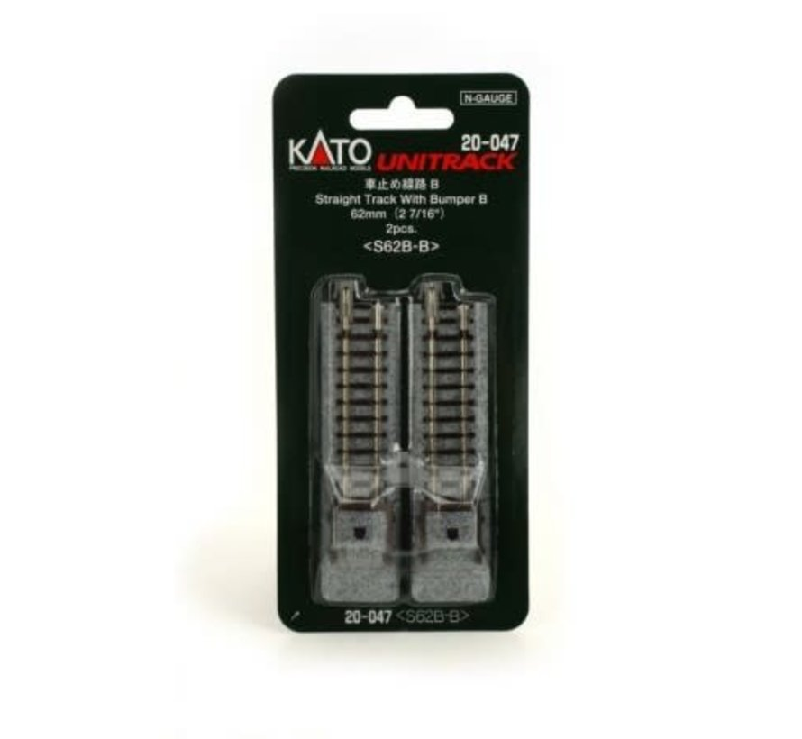 Kato : N Track 62mm Straight w/ bumpers