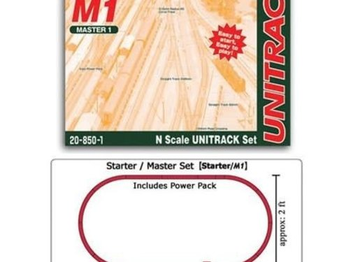 KATO KAT-208-501 - Kato : N Track Set Oval M1 w/power