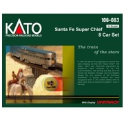KATO KAT-106-083 - Kato : N SF 'Super Chief' 8-Car Set w/Display Track