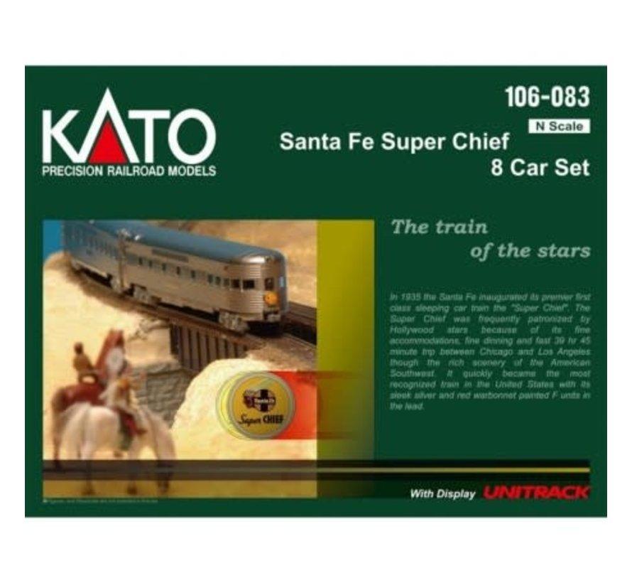 Kato : N SF 'Super Chief' 8-Car Set w/Display Track