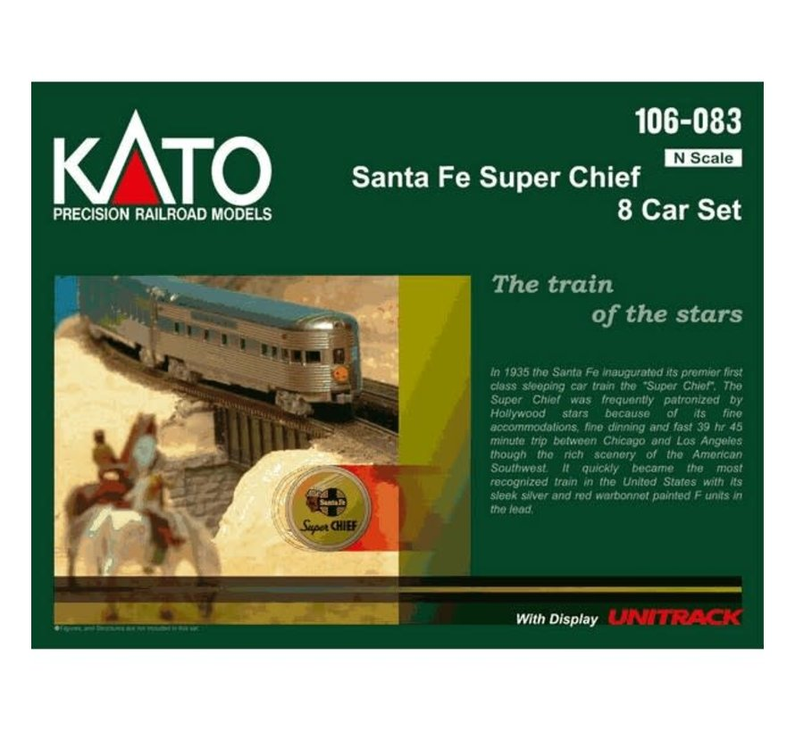 Kato : N SF 'Super Chief' 8-Car Set w/interior light
