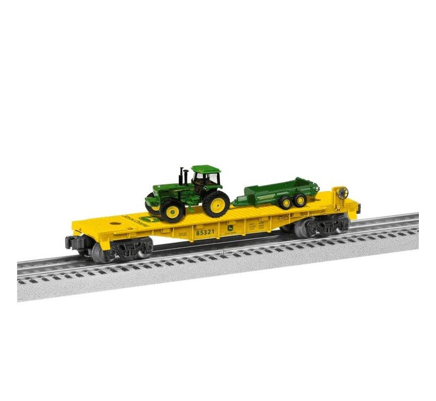 Lionel : O John Deere Flat car w/ tractors