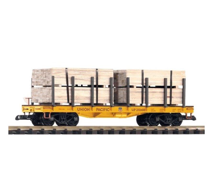 PIKO : G UP Falt w/ Lumber Load