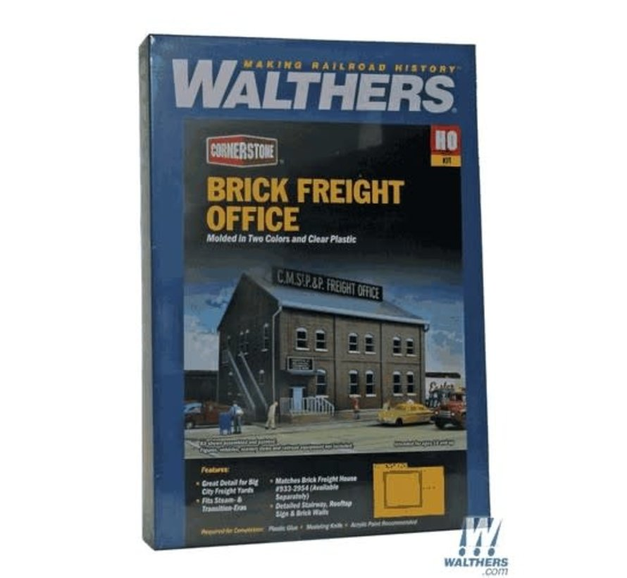 Walthers : HO Brick Freight Office