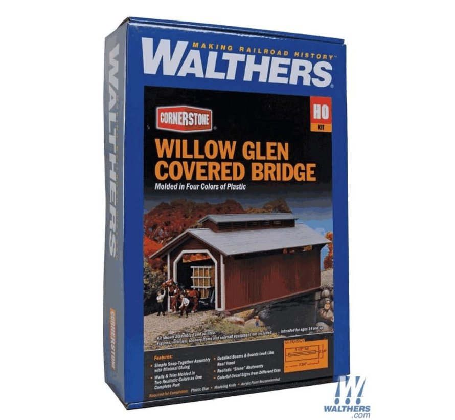 Walthers : HO Willow Covered Bridge