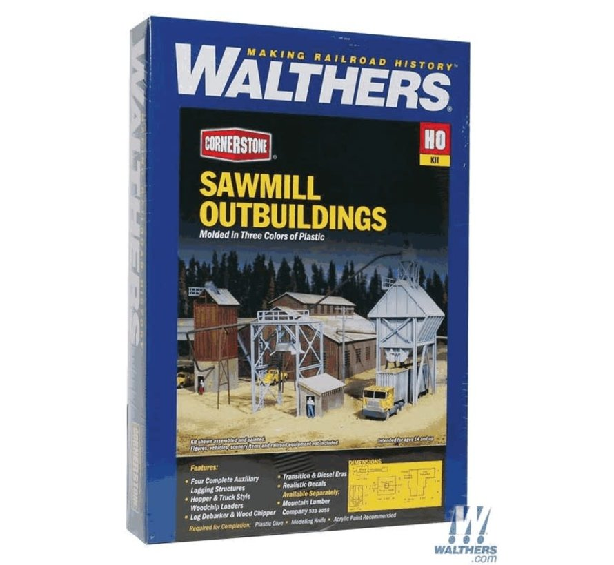 Walthers : HO Sawmill Outbuildings 4/