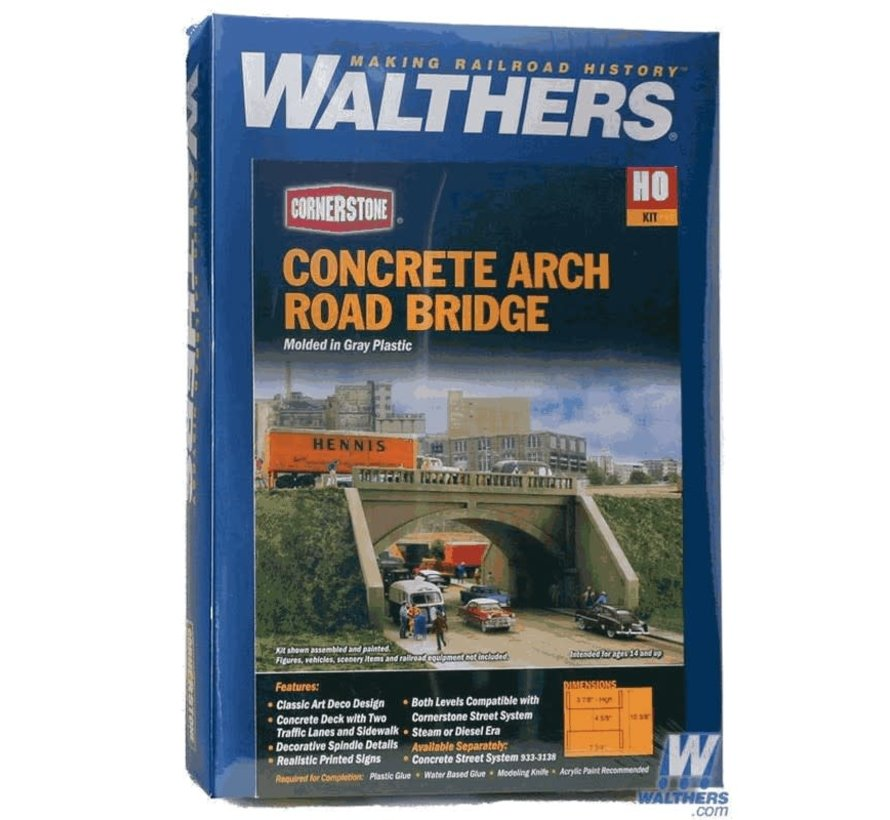 Walthers : HO Arched Road Bridge Kit