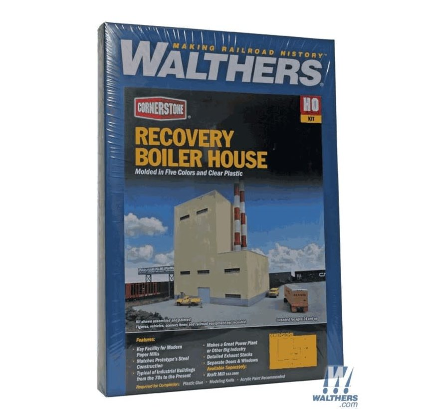 Walthers : HO Recovery Boiler House Kit