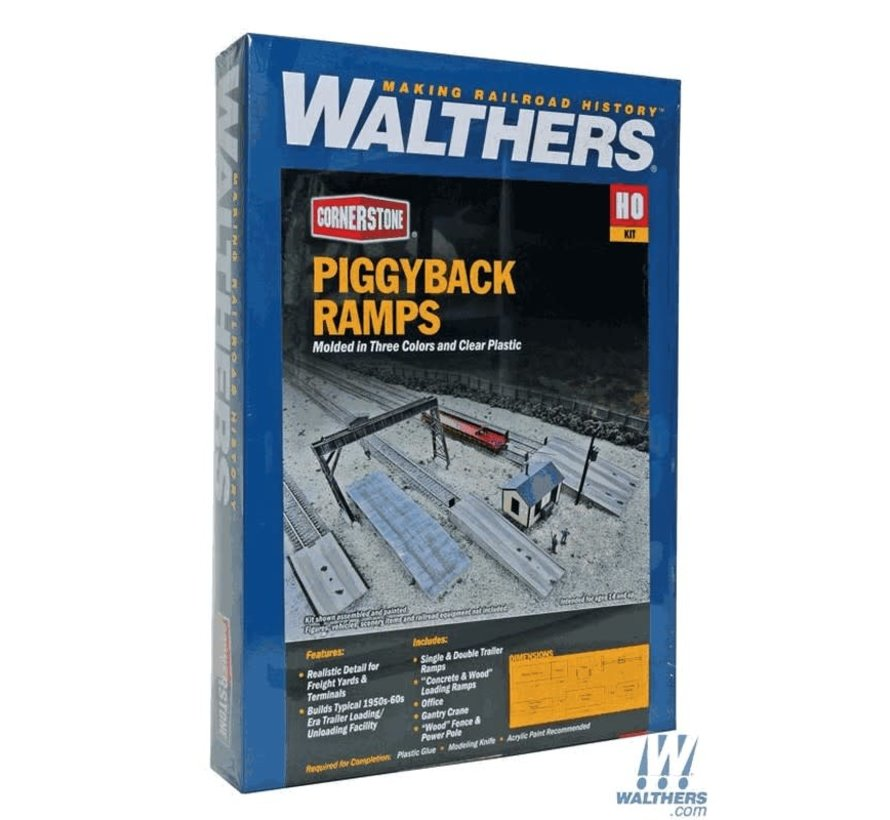 Walthers : HO Piggyback Ramps Kit