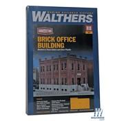 WALTHERS WALT-933-4050 - Walthers : HO Sm Brick Office Bldg Kit