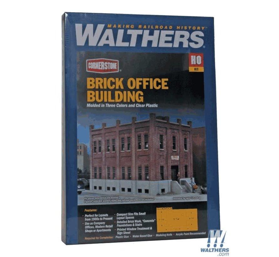 Walthers : HO Sm Brick Office Bldg Kit