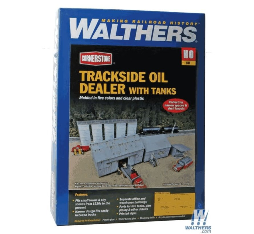 Walthers : HO Trksde Oil Dealer w/Tanks