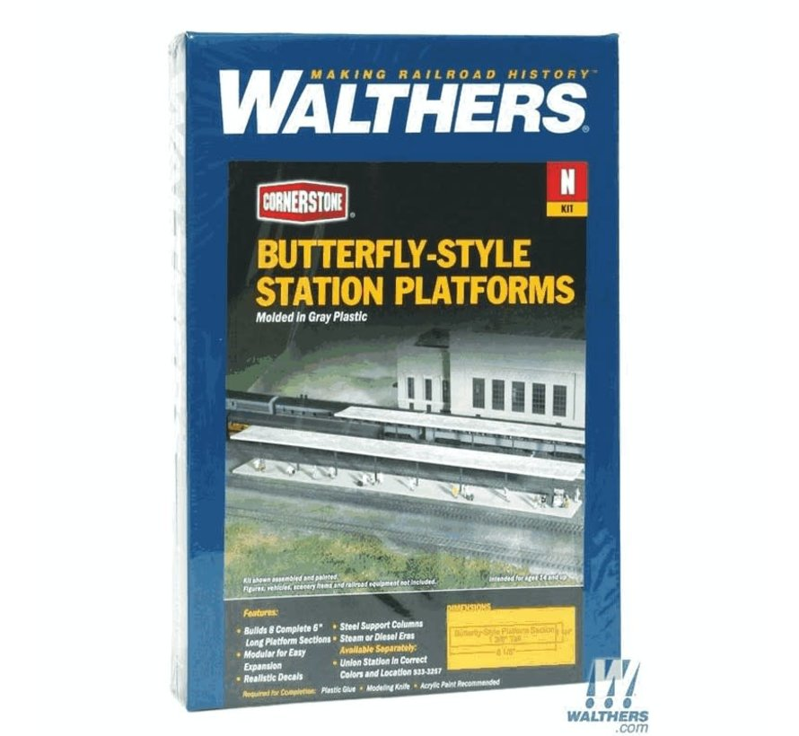 Walthers : N Butterfly Pltfrm Shltr 8/
