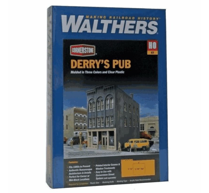 Walthers : HO Derry's Pub Kit