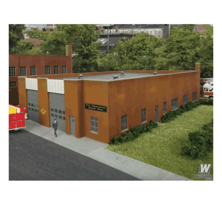 Walthers : HO Fire Dept. Repair Shop