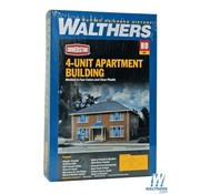 WALTHERS WALT-933-3781 - Walthers : HO Four-Unit Brick Apartment