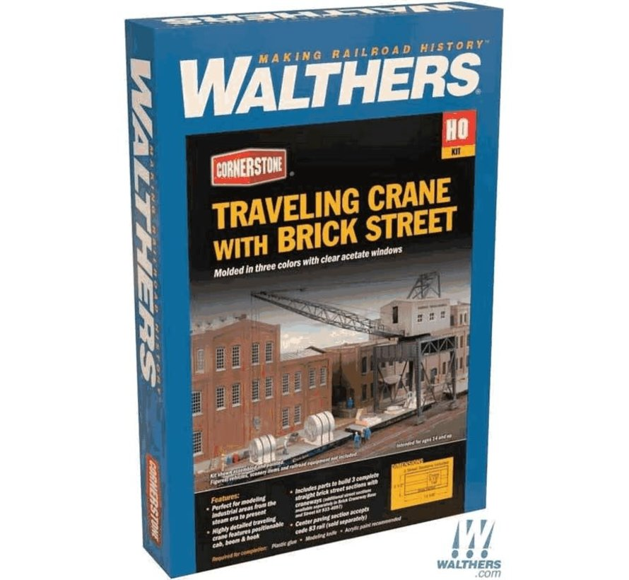 Walthers : HO Trvlg Crane w/Brick Strt