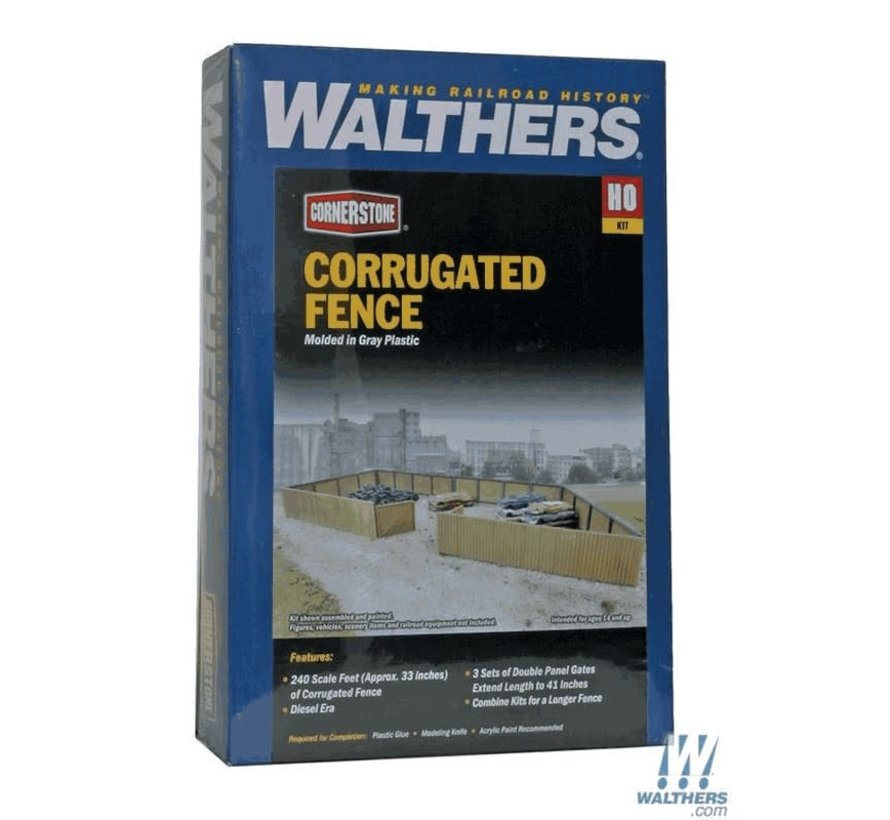 Walthers : HO Corrugated Fence Scl 240'