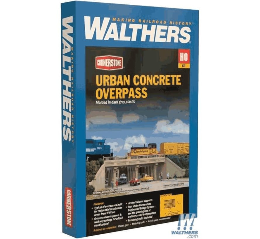 Walthers : HO Urban Overpass Concrete