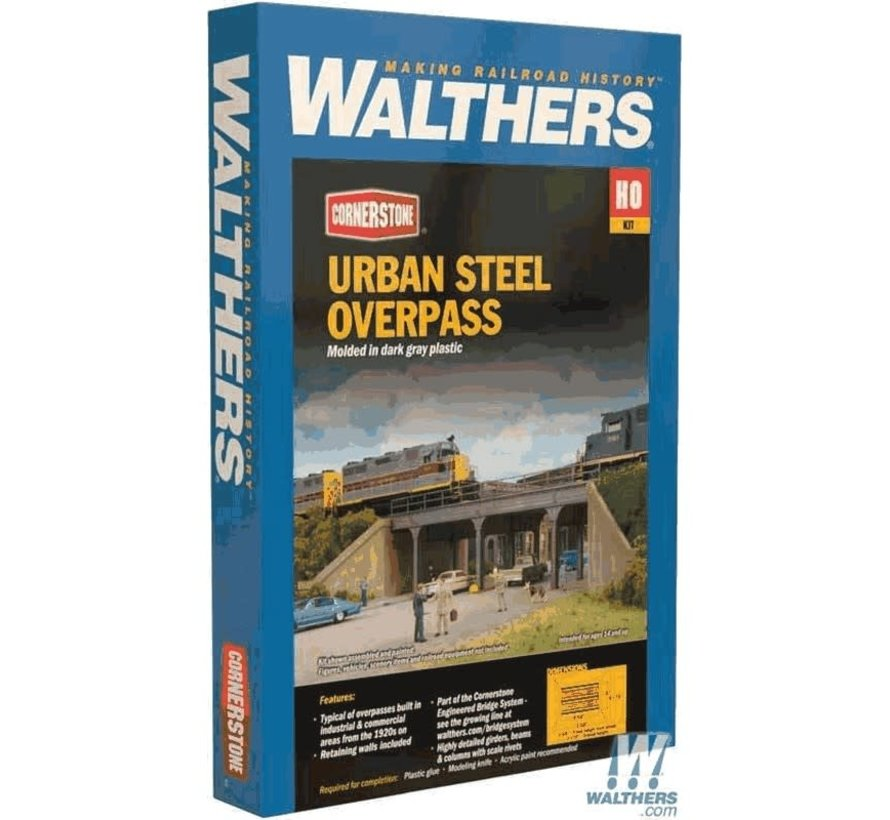 Walthers : HO Urban Overpass Steel