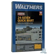 WALTHERS WALT-933-3477 - Walthers : HO 24-seven Mart Kit