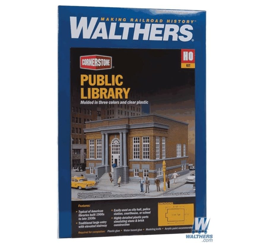 Walthers : HO Public Library Kit