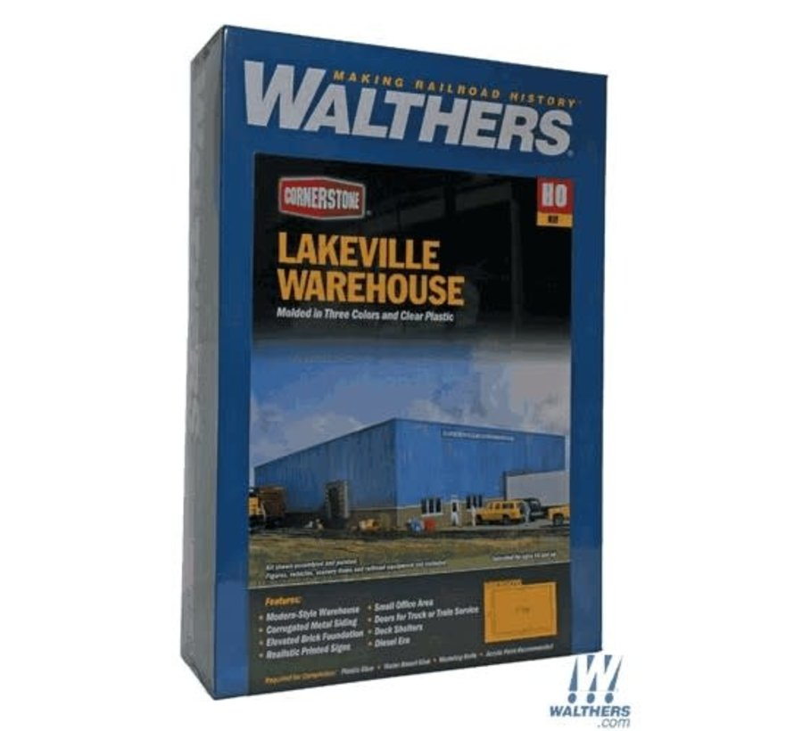 Walthers : HO Lakeville Mdrn Warehouse