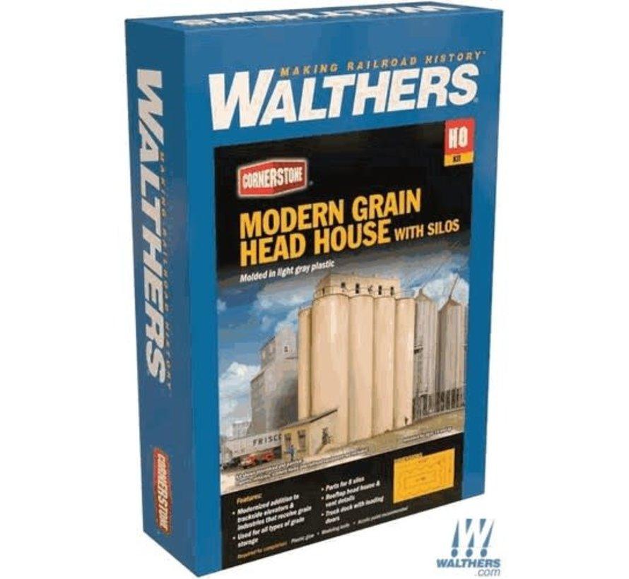 Walthers : HO Head House w/Silos Modern
