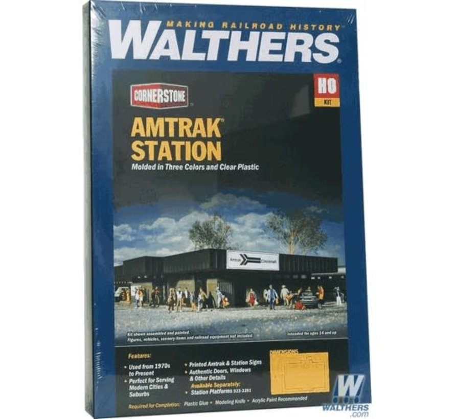 Walthers : HO AMTK Station Kit