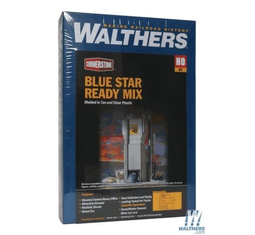 Walthers : HO Blue Star Ready Mix Plant