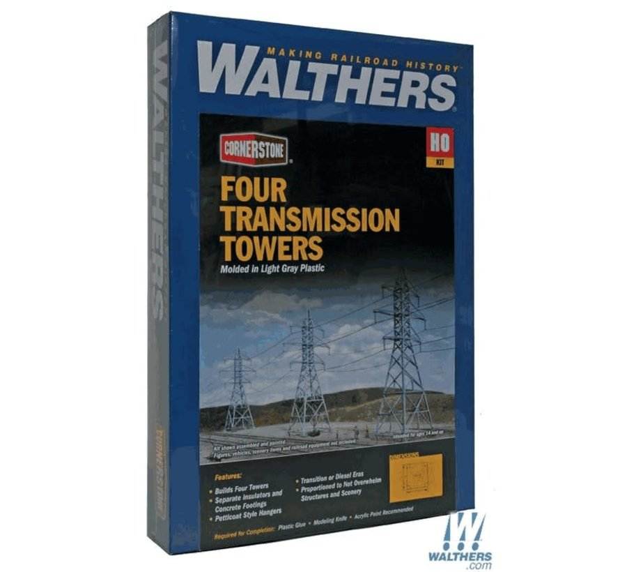 Walthers : HO Transmission Towers 4/